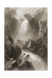 Head of the Devil's Glen, County Wicklow, Ireland, from 'scenery and Antiquities of Ireland' by… Giclee Print by William Henry Bartlett