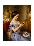 Taking Tea in the Drawing Room Giclee Print by Arthur Hughes