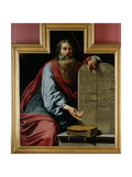 Moses with the Tablets of the Law Giclée-Druck von Claude Vignon