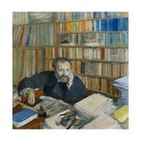 Portrait of Edmond Duranty, 1879 Giclee Print by Edgar Degas
