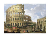 A View of the Colosseum in Rome Giclee Print by Gaspar van Wittel