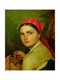 Girl with a Birch-Bark Jar, C.1824 Giclée-Druck von Aleksei Gavrilovich Venetsianov