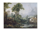 Landscape with a Watermill Giclee Print by Francois Boucher