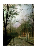 After the Shower Giclee Print by John Atkinson Grimshaw
