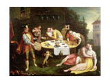 A Banquet of Love Giclee Print by Frans Floris