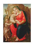 Madonna with Child and St John in a Landscape Giclee Print by Francesco Granacci