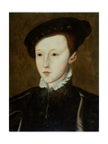 Portrait of Edward VI (1537-53) Giclee Print by Guillaume Scrots