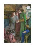 Clerk Saunders, 1857 Giclee Print by Elizabeth Eleanor Siddal