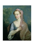 Portrait Sketch of a Young Lady, C.1739 Giclee Print by Philippe Mercier