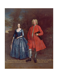 Portrait of Rich, 5th Viscount Irwin and His Wife Anne, C.1715-20 Giclee Print by Jonathan Richardson