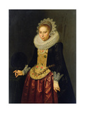Portrait of a Young Lady, 1622 Giclee Print by Nicolaes Eliasz