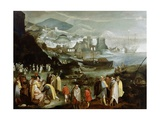 Capriccio of a Mediterranean Port, C.1590-1610 Giclée-Druck von Marten van Valckenborch