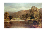 Welsh River Scene Giclee Print by Benjamin Williams Leader
