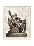 The Laocoon as Jehovah with Satan and Adam, C.1820 Giclee Print by William Blake