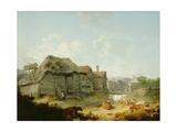 A Farmyard, Otford, Kent, 1793 Giclee Print by Julius Caesar Ibbetson