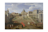 A View of St. Peter's in Rome Giclee Print by Gaspar van Wittel