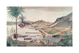 Gibraltar on the Morning after the Great Franco-Spanish Attack, 1783 Giclee Print by Thomas Davies