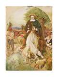 Cromwell on His Farm, 1873-4 Giclee Print by Ford Madox Brown