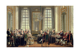 Conversation at Drottningholms Palace, 1779 Giclee Print by Pehr Hillestrom