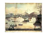 'The Natives of Otaheite (Tahiti) Attacking Captain Wallis, the First Discoverer of That Island',… Giclee Print
