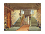 The Staircase, from Views of the Royal Pavilion, Brighton, by John Nash, 1826 Giclee Print by John Nash