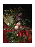 Still Life with Grapes and Peaches Giclee Print by Willem van Aelst