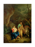 Rest on the Flight into Egypt, 1760 Giclee Print by Christian Wilhelm Ernst Dietrich