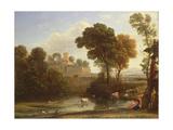 Italian Landscape, 1648 Giclee Print by Claude Lorrain