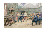 The Fairground Giclee Print by Gustave Bourgain