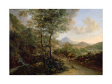 Italian Landscape, C.1637-41 Giclee Print by Jan Both