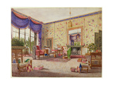 The Chinese Drawing Room, Middleton Park, Oxfordshire, 1839 Giclee Print by William Alfred Delamotte
