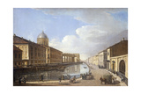 View of Kazan Cathedral, from Ekaterina Canal, St. Petersburg Giclee Print by Timofei Alexeyevich Vasiliev