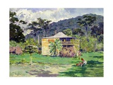 Vailima, 1892, Home of Robert Louis Stevenson on Samoa Giclee Print by Count Girolamo Pieri Nerli