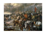 Morning of the Battle of Agincourt, 25th October 1415, 1884 Lámina giclée por Sir John Gilbert