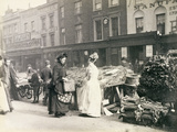 Street Traders in London, the New Cut, 1893 Photographic Print by Paul Martin