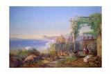 Castille and the Bay of Baia, Pozzuoli, 1866 Giclee Print by Edward Richardson