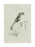 Plate 74.4 Sentiments and Passions: 'The Last Bath', from 'Charivari' Magazine, Published by… Giclee Print by Honore Daumier