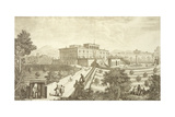 Villa Palmieri, Fiesole, from 'Vedute Delle Ville Et D'Altri Luoghi Della Toscana', Engraved by… Giclee Print by Giuseppe Zocchi