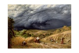 Storm in Harvest, 1856 Giclee Print by John Linnell