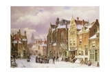 Snow in Amsterdam Giclee Print by Willem Koekkoek