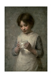 Girl with a Silver Fish, 1889 Giclee Print by William Robert Symonds