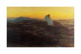 Christ in the Wilderness, 1898 Giclée-tryk af Briton Rivière