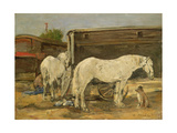 Gypsy Horses, C.1885-90 Giclee Print by Eugene Louis Boudin