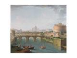 View of the Tiber, C.1700-77 Giclee Print by Antonio Joli