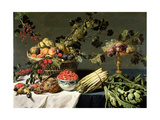 Still Life of Fruit in a Wicker Basket Giclee Print by Frans Snyders Or Snijders