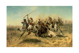 Arab Horsemen on the Attack, 1869 Giclee Print by Adolf Schreyer