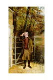 Portrait Sketch of William Wright, Gatekeeper at Bramham Park, Yorkshire, 1822 Giclee Print by George Garrard