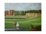 View of Temple Newsam House, Detail of the Stable Block, C.1750 Giclee Print by James Chapman