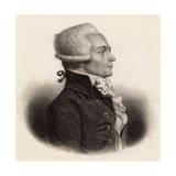 Portrait of Maximilien De Robespierre (1758-94) Giclée-tryk