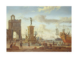 Harbour at Livorno Giclee Print by Abraham Storck